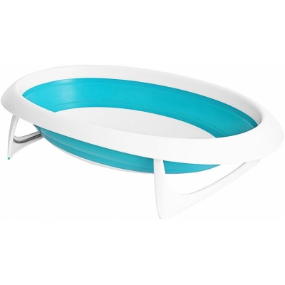 Boon Naked 2-Position Collapsible Baby Bathtub - Blue/White