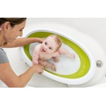 Boon Naked 2-Position Collapsible Baby Bathtub - Green/White