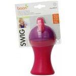 Boon Straw Sippy Swig Cup Pink/Purple