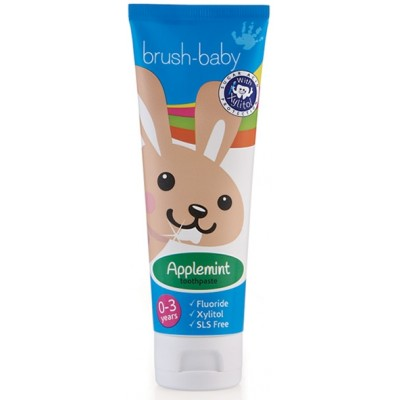 Brushbaby Baby & Toddler Toothpaste (0-3yrs) - Applemint