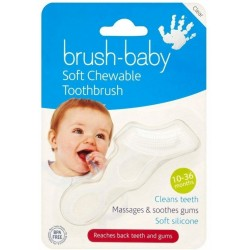Brushbaby Soft Chewable Toothbrush - Clear