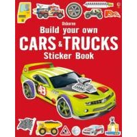 Usborne Build Your Own Cars and Trucks Sticker Book
