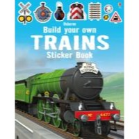 Usborne Build Your Own Trains Sticker Book