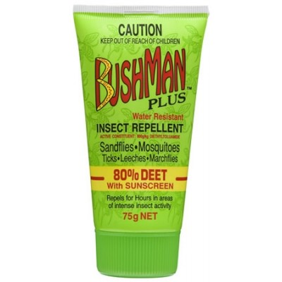 Bushman Plus Gel 75gm 80% Deet (with Sunscreen)