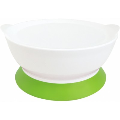 Calibowl 12oz Toddler Suction Bowl with Lid - Green