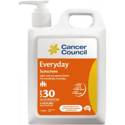 Cancer Council Australia Cancer Council Everyday Sunscreen SPF30 1 Litre