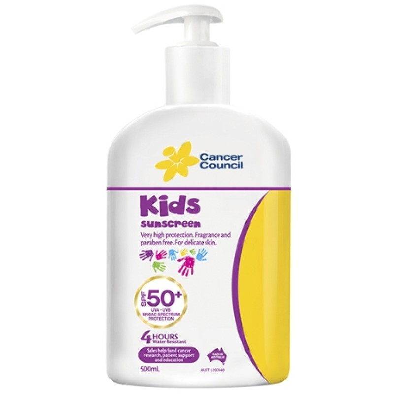Cancer Council Kids Sunscreen Spf50 Pump 500ml