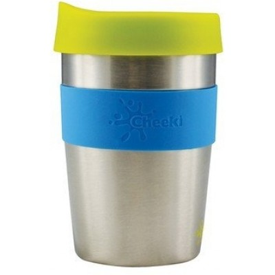 Cheeki Stainless Steel Coffee Cups 12 oz (355 ml) - Silver/Blue