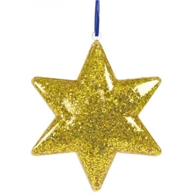 Colorations Clear Star Ornaments - Set of 12