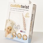 Cuddledry Cuddletwist Hair Towel - Natural White with Gingham Trim