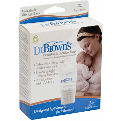 Dr Brown's Breastmilk Storage Bags 6oz (25-Pack)