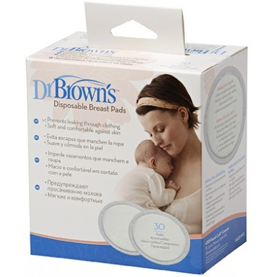 Dr Brown's Disposable Breast Pads 30-Pack