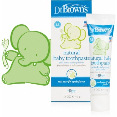 Dr Brown's Natural Baby Toothpaste - Safe to Swallow