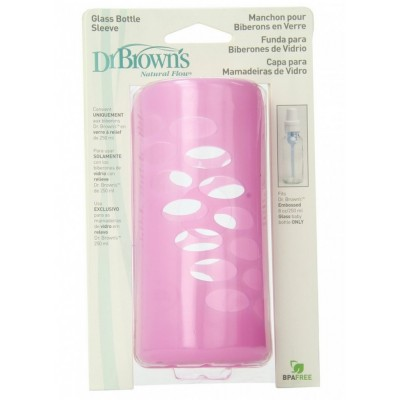 Dr Brown's Protective Sleeve 8oz - Pink
