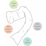 Dreamgenii Pregnancy Support & Feeding Pillow (Floral Grey White)