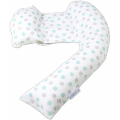 Dreamgenii Pregnancy Support & Feeding Pillow (Geo Grey Aqua)