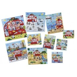 ELC 10 In A Box - World Tour Bus Puzzles