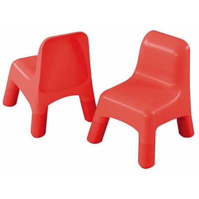 ELC 2 Plastic Chairs - Red