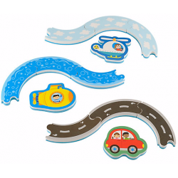 ELC Track and Vehicle Bath Puzzle