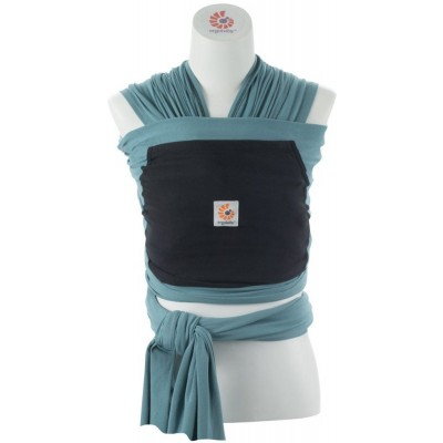Ergobaby Wrap - Eucalyptus (Teal Wrap with Black Pocket)