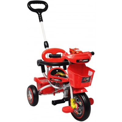 Baby Star Cars Tricycle (with Push Bar and Guard)