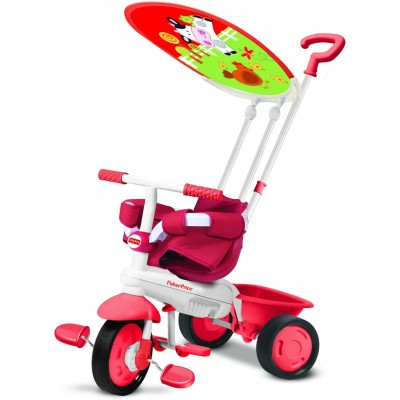 Fisher-Price Classic Plus 3 in 1 Trike - Cow/Red