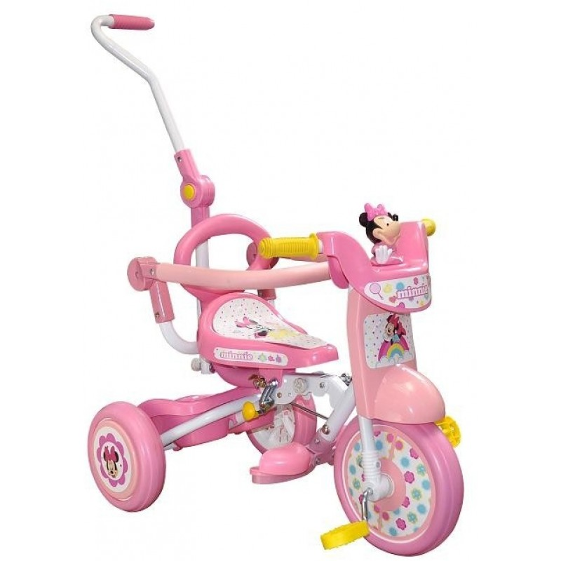 Disney Minnie Foldable Tricycle With Push Handle And Guard