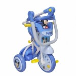 Baby Star Disney Mickey Foldable Tricycle (with Push Handle and Guard)