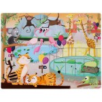 Janod Tactile Puzzle - A Day At The Zoo (20 Pieces)