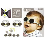 Ki ET LA Baby Sunglasses Diabola (0-18 months) - 2 sizes in 1 - Plumed