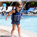 Konfidence Floatsuit - Navy Polka Dot - 2-3 Years