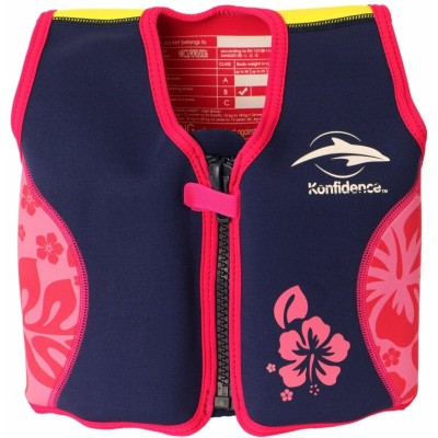 Konfidence Swim Jacket - Navy/Pink/Hibiscus - 4-5 Years