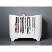 Leander Cot/Crib/Baby bed incl. pocket spring mattress, white - RAL9016