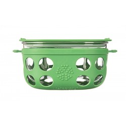 Life Factory Glass Food Container Grass Gre..