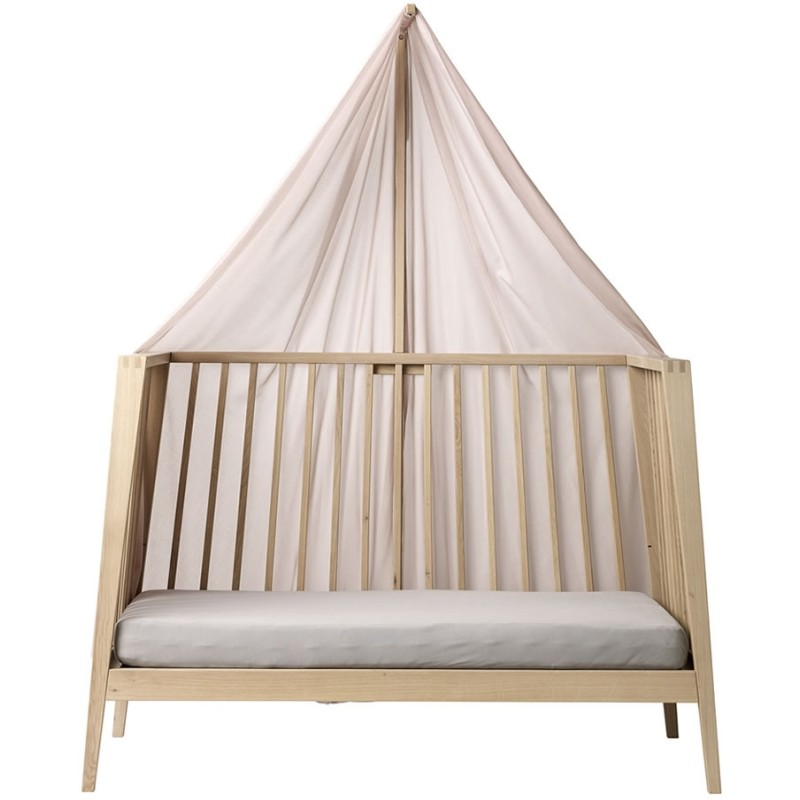 linea canopy for linea baby cot soft pink