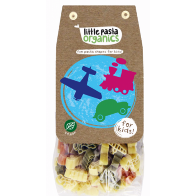 Little Pasta Organics Travel Shaped Pasta (Spinach & Tomato) 250g