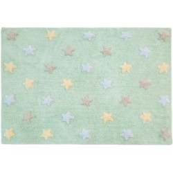 Lorena Canals Tricolor Stars Soft Mint 120x..