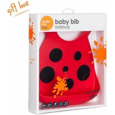 Make My Day Baby Bib - Ladybug