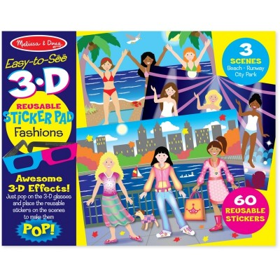 Melissa & Doug 3-D Reusable Sticker Pad - Fashions