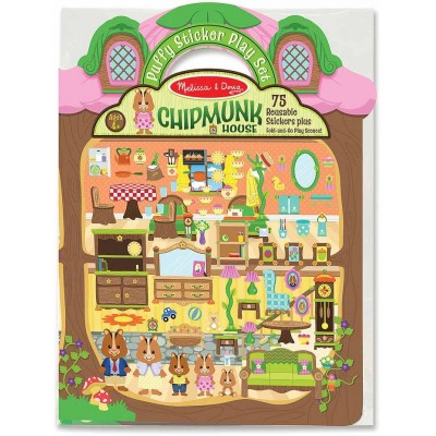 Melissa & Doug Puffy Sticker Play Set - Chipmunk House