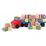Melissa & Doug Alphabet Blocks Wooden Truck