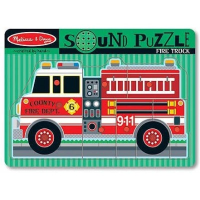 Melissa & Doug Fire Truck Sound Puzzle - 9 Pieces