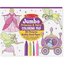 Melissa and Doug JUMBO COLORING PAD - FAIRY
