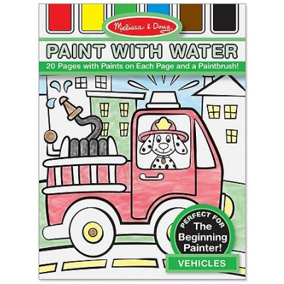 Melissa & Doug Vehicles Paint with Water Kids' Art Pad