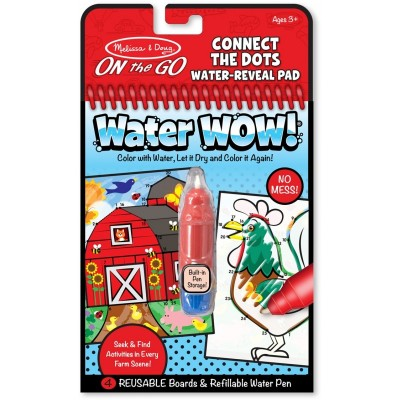 Melissa & Doug Water WOW! Water Reveal Pad - Connect the Dots Farm