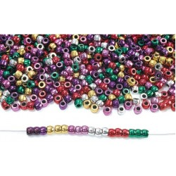 Colorations Metallic Pony Beads - 1 lb.