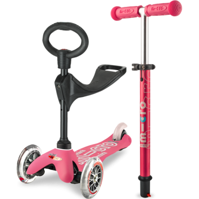 Micro Scooter Mini Micro 3-in-1 Deluxe Scooter - Pink