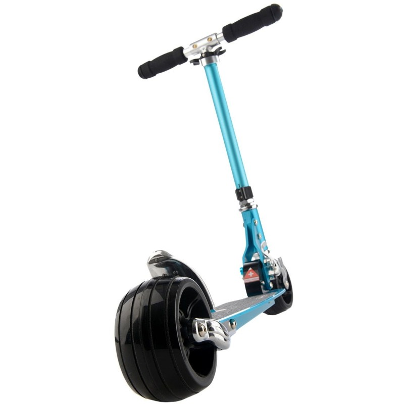 micro rocket scooter sky blue 120mm rubber fat wheel. Black Bedroom Furniture Sets. Home Design Ideas