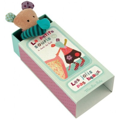 Moulin Roty Les Jolis Pas Beaux Milk Tooth Fairy Mouse in a Box 13.5x7cm