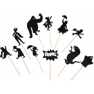 Moulin Roty Les Petites Merveilles Night-Time Shadows, Super Hero (11-Pack)